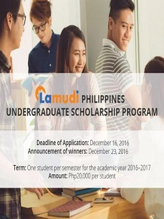 Lamudi Philippines announces undergraduate scholarship program