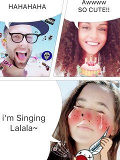 You can now create multi-panel video comics with LINE's B612