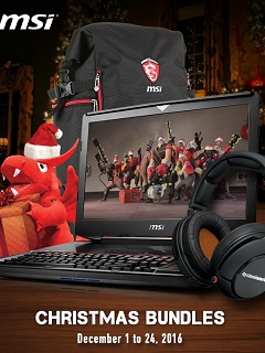 MSI Notebook announces Christmas Bundle Promotion