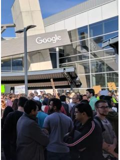 Google employees worldwide go on strike over Trump's immigration ban