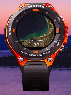 The Casio's WSD F-20 smartwatch has GPS and color maps