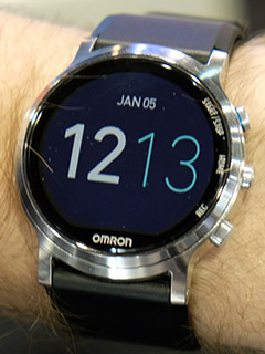 Ces 2017 This Omron Smartwatch Prototype Can Measure Your