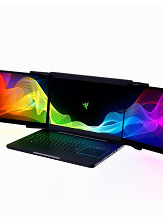 Razer is showing off an insane triple display gaming laptop at CES