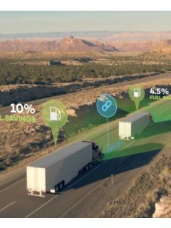 Semi-automated convoy system promises to make more efficient truck drivers