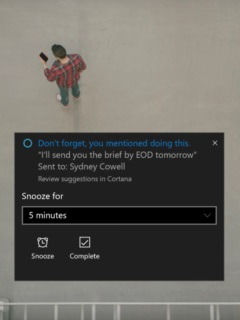 Cortana will now remind you of the promises you've made in emails