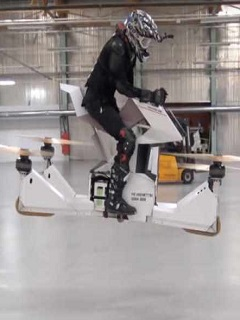 Watch: Hoversurf brings the world's first fully-manned hoverbike