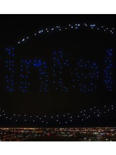 300 drones from Intel performed at Lady Gaga's Superbowl halftime show