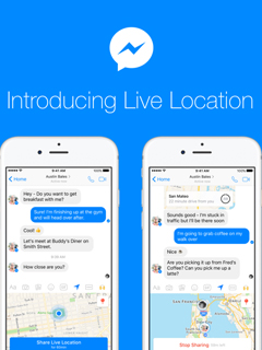 Facebook Messenger now allows you to share Live Location