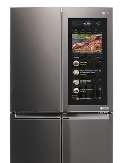 LG's new smart fridge lets you peek at what's inside without opening the door