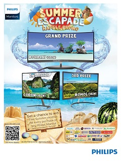 Philips Monitors offers Summer Escapade raffle promo, gives summer trip for two