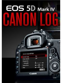 Canon EOS 5D Mark IV now supports C-Log