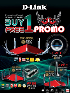 D-Link is having a buy-one-free-one promotion until May 10, 2017!