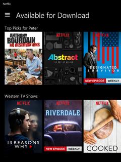 Watch Netflix videos offline on Windows 10
