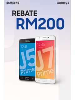 Get a Samsung Galaxy J Prime smartphone at RM200 off its original price