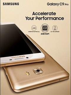 Samsung Galaxy C9 Pro has 6GB RAM, 64GB internal memory for smoother performance