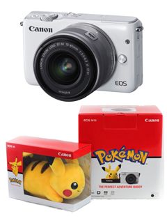 Canon wants you to win an EOS M10 and a Pikachu Shoulder Plush!