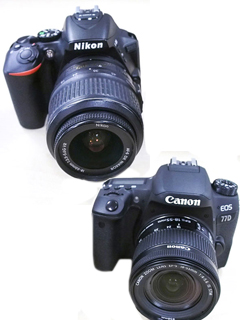 Battle of the midrange DSLRs: Nikon D5600 vs. Canon 77D