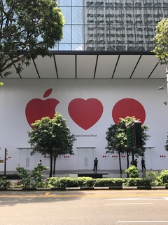Apple's Orchard Road store is expected to open soon