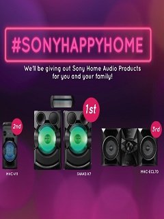 Join #SONYHAPPYHOME promo to win Sony Home Audio products