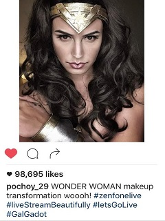 'Wonder Woman' skyrockets into social media fame with ASUS ZenFone Live