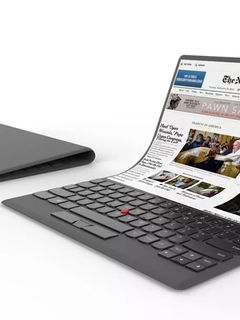 Lenovo shows off concept laptop with a flexible screen that you can bend