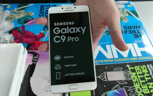 Unboxing the Samsung Galaxy C9 Pro