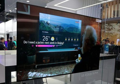 LG shows what you can do with a TV's built-in Google Assistant