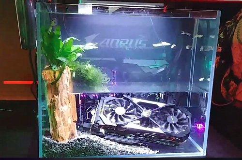 Gigabyte shows off a fish tank aquarium PC concept