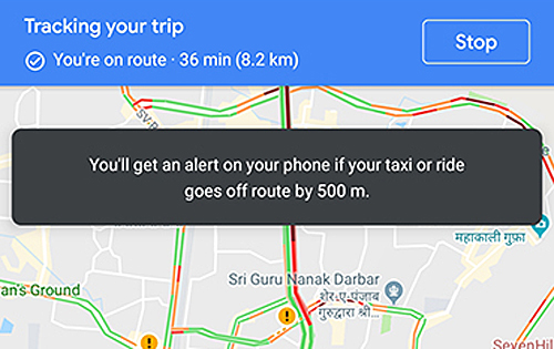 News] Google Maps may alert you if your taxi driver takes