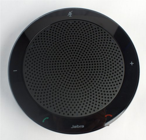 The metal grill takes up most of the surface real estate and it is ringed by buttons for call and volume controls.