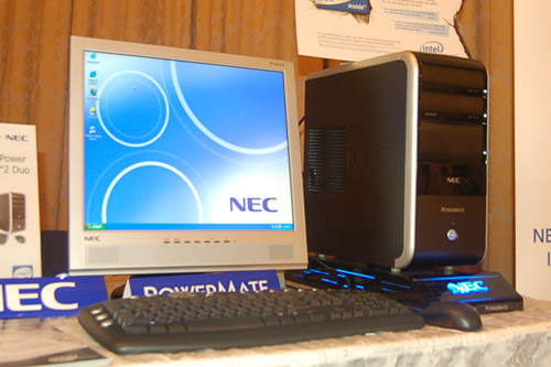 The latest Intel Core 2 Duo chip can also be found in the PowerMate M6000 desktop. Equipped with 1GB of DDR2 RAM, an ATI Radeon X1300 Pro 256MB graphics card, DVD-RW, 160GB 7200RPM SATA HDD as well as a 19-inch LCD monitor, the M6000 can be considered quite a powerhouse and can be had from SG$1,999.