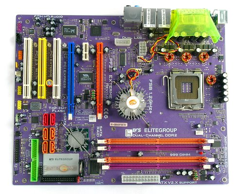 The ECS PF22 Extreme CrossFire ready motherboard.