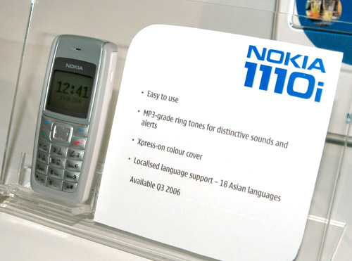 The Nokia 1110i is the latest entry-level phone to be added to Nokia's portfolio