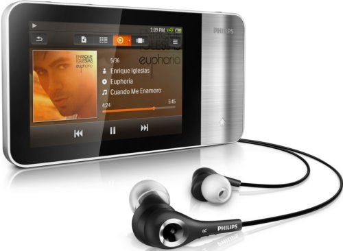 The GoGear Muse from Philips is available in an 8GB model for storing both audio and video for playback.