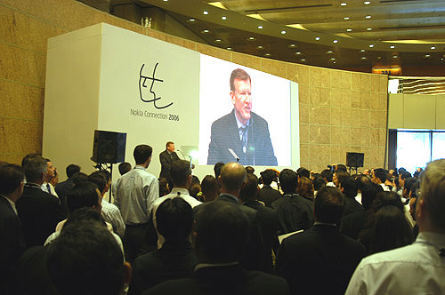 A large crowd gathered at Nokia Connection 2006