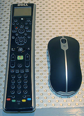 The mobile system comes with a Bluetooth mouse, while the Media Remote is unfortunately an optional add-on.