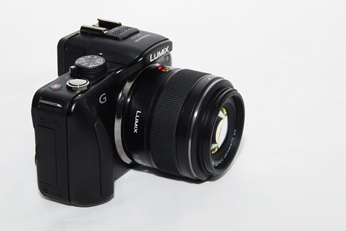 The 25mm attached to a Panasonic G3.