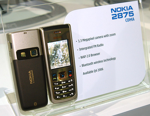 Surely the stunner amongst the new Nokia phones is the 2875 with its classy metallic finish.