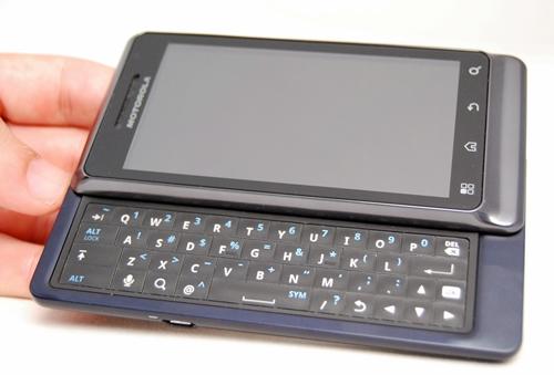 The Motorola Milestone 2 looks no different from its predecessor.