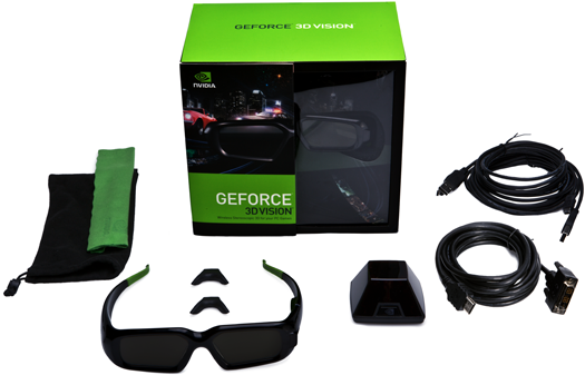 NVIDIA offers a complete 3D viewing kit