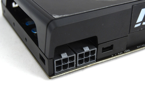 The GeForce GTX 465 is powered via two 6-pin PCIe power connectors and a PSU rated for at least 500W is recommended.