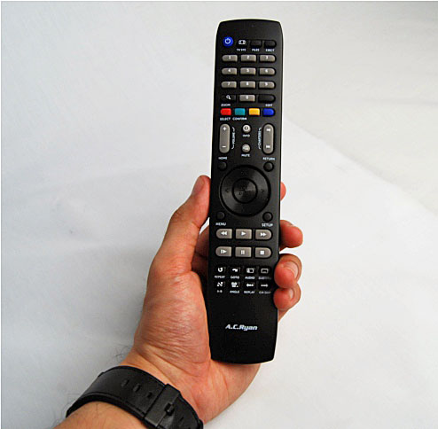 The length of the remote made it easier to hold and it helped that it was slim as well