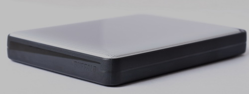 The MiniStation USB 3.0's styling reminds us of early portable hard drives.