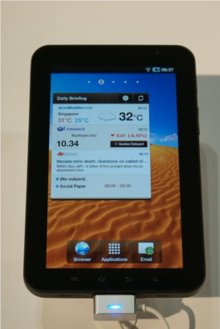 The new and smaller Galaxy Tab 7-inch version is fundamentally a scaled-down version of the bigger 10.1-inch model.