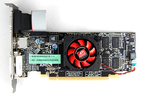 The 1GB variant of the Radeon HD 5450 comes with a traditional fan and heatsink cooler.