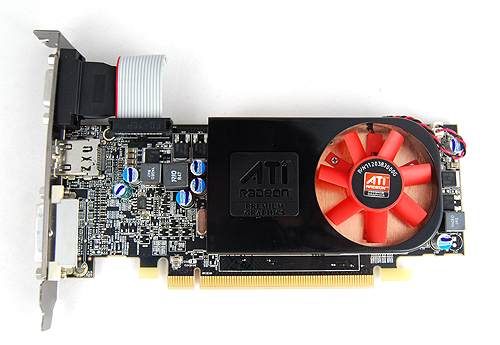 Despite being similar to the Radeon HD 5670 in terms of functional elements, the Radeon HD 5570 is a low-profile, half-height card thanks to its comparatively much lower clock speeds.