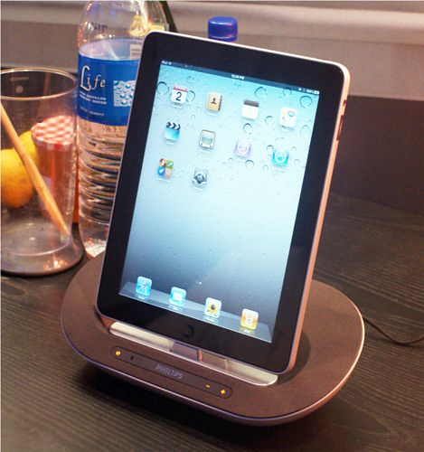 Seen here is yet another compact docking speaker, the DS3500, showcasing it iPad compatibility.