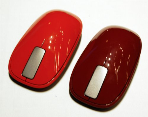 The new Explorer Touch Mouse retains its minimalist sensibilities, but now offers funkier color options such as Rust Red and Sangria Red.