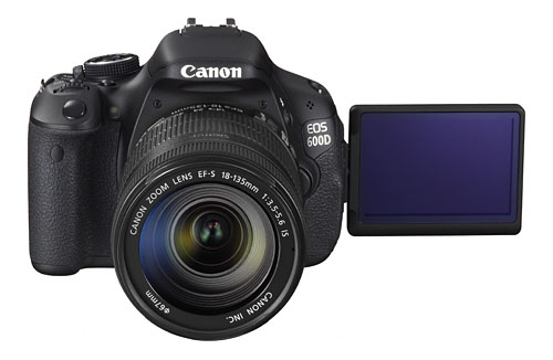 The 18-megapixel EOS 600D.