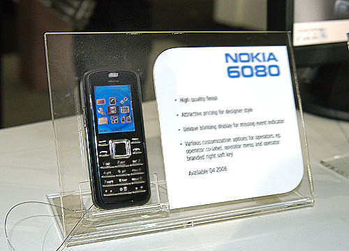The new Nokia 6080 with its sleek and stylish look.